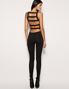 black unitard... throw a cute skirt on and it's now become officially a cute outfit!
