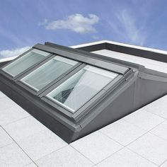 A computer generated image of a Flat Roof Apex System. One of the many products we offer at Keylite Roof Windows to enhance the level of natural light pouring into your home Roof Skylight, Roof Window, Skylights, House Windows, House Roof, Roof Design, Window Design, Flat Roof Systems, Flat Roof Lights