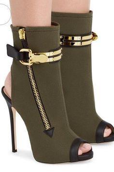 Side Zipper Cut Out Peep Toe Super Stiletto High Heels Sandals  boots  heels    7d7eca417f3d