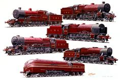 The showcase site for the creative work of WD, GS, and DP Cooper Steam Trains Uk, Steam Boiler, Train Posters, Train Art, Train Pictures, British Rail, Train Engines, Model Train Layouts, Commercial Vehicle