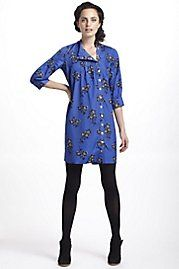 Graphic Begonia Shirt Dress