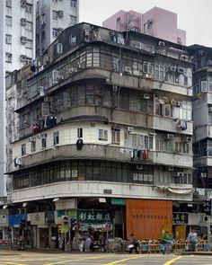 Michael Wolf Photography | Corner Houses: Corner11 Hong Kong Architecture, Concept Architecture, Kowloon Walled City, Michael Wolf, Wolf Photography, Slums, Corner House, World Cities, Favelas