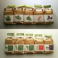 #木版画 による 和のハーブ栽培キットの #パッケージング 用 #イラスト 年前と2年前にやったお仕事のサンプルが昨日届いた表参道の #momastore で売ってるみたいです #noted #cultivate&eat #japaneseherb