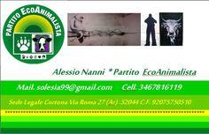 Biglietto da  Visita  Partito  EcoAnimalista