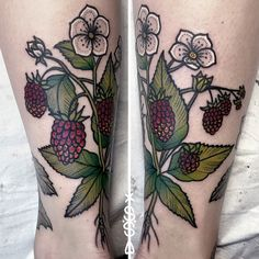 Raspberry plant Tattoo More
