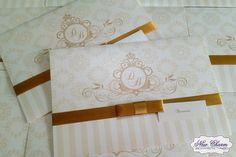 Convite de casamento dourado convite bodas de ouro
