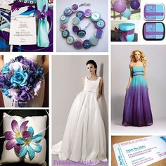 Turquoise and purple wedding ideas....I'm not sure about this one