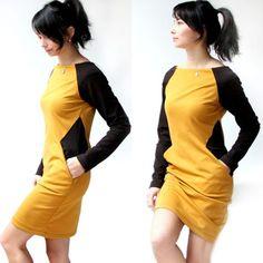 Střih na dámské šaty Silueta