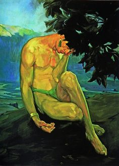 Saturnino Herran, La leyenda de los volcanes (The legend of the volcanoes) - right panel, 1910 Diego Rivera, Figure Painting, Painting & Drawing, 20th Century Painters, Frida And Diego, Art Hub, Art Of Man, Mexican Artists, Images Google