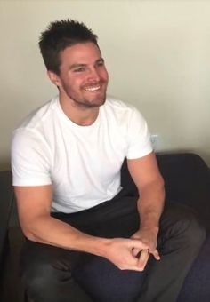 """"""" I love your smile.""""Stephen Amell...delicious ❤️❤️"""