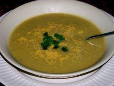 Cheddar Cheesy Broccoli and Potato Soup @FoodBlogs