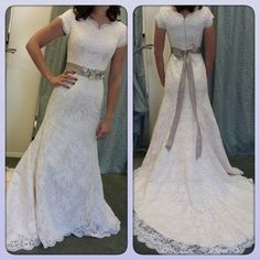 Conservative Short Sleeves Bridal Lace Dresses With Belt Women'S Modest Dress Wedding Sheath 2016 Robe De Mariage Column Wedding Dress Contemporary Wedding Dresses From Adminonline, $160.2| Dhgate.Com