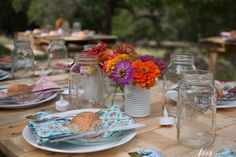 rustic and simple tablescape
