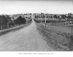 View of Bourke Rd looking South 1911 Melbourne Victoria, Victoria Australia, Melbourne Suburbs, It's Wonderful, Local History, Historical Photos, Beautiful Images, Old Photos, Past