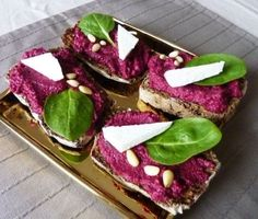 Beetroot pesto  2 beetroots (middle size or 1 large)  3 tablespoons of olive oil  3 tablespoons of grated parmesan  3 tablespoons of pine nuts  1-2 cloves of garlic  salt and pepper (according to taste)
