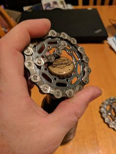 Bottle Opener Handmade from Recycle Bicycle chain and cogs - Fahrrad