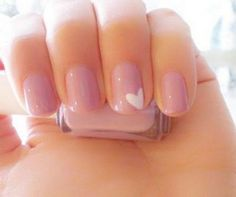 Cute Pink Love Simple Nail Designs. Discover and share your nail design ideas on https://www.popmiss.com/nail-designs/