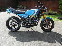 Yamaha Motorbikes, Yamaha Bikes, Honda Motorcycles, Vintage Motorcycles, Custom Motorcycles, Custom Bikes, Bike Builder, Dual Sport, Sportbikes
