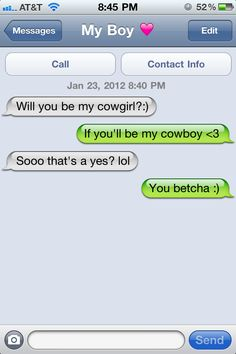 That would be the best way to be asked out, except do it in person!