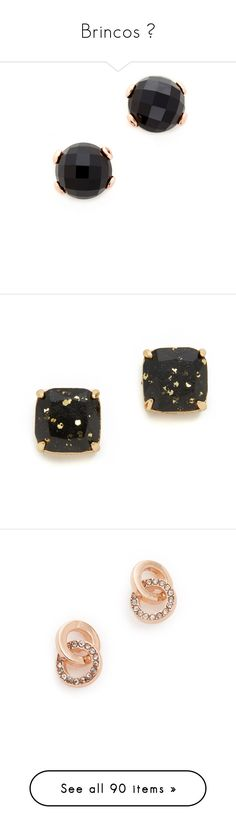 """""""Brincos 🌟"""" by amanda-elpidio ❤ liked on Polyvore featuring jewelry, earrings, 18 karat gold earrings, 18 karat gold stud earrings, 18k earrings, studded jewelry, 18k jewelry, stud earrings, gold plated stud earrings and kate spade earrings"""
