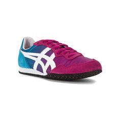 ASICS Onitsuka Tiger Serrano Shoes (79 CAD) ❤ liked on Polyvore featuring shoes, asics shoes, retro shoes, traction shoes, asics and low profile shoes