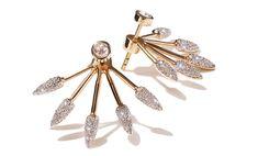Pamela Love Fine Jewelry Five Spike Earrings