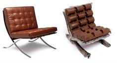 Artista chilena reproduz cadeiras famosas com comida