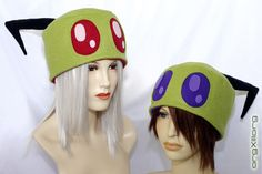 Invader ZIM Irken Cap - cosplay hats by orgXIIIorg. $30.00, via Etsy.