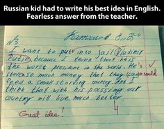 Best idea by a Russian kid // funny pictures - funny photos - funny images - funny pics - funny quotes - #lol #humor #funnypictures