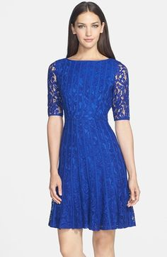 Adrianna Papell Lace Fit & Flare Dress (Regular & Petite)   Nordstrom