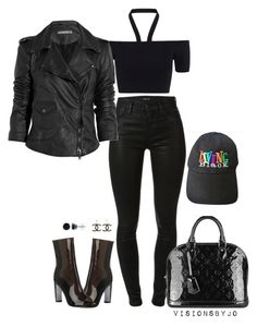 """""""Untitled #1635"""" by visionsbyjo on Polyvore featuring J Brand, Louis Vuitton, Chanel, BERRICLE, Whistles and Lot78"""