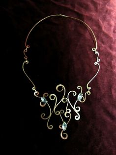 Handmade necklace of glass beads and alpaca