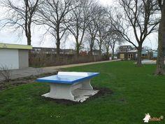 Pingpongtafel Blauw bij Zwembad De Waterdam in Volendam