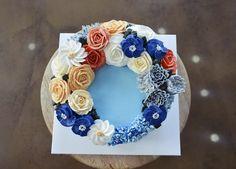 buttercream flower cake rose, daisy  ginniecake class