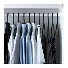 IKEA - STRYKIS, Gruccia, La forma arrotondata e la superficie vellutata di queste grucce tengono fermi i vestiti senza lasciare segni.Puoi appendere anche capi pesanti come giacche e cappotti su queste grucce in metallo.