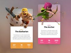 Dribbble - Clash Cards Preview by  Matt Thompson