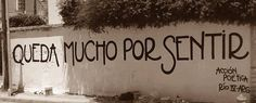 Queda mucho por sentir #Acción Poética Rio Cuarto #calle