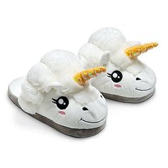 ThinkGeek :: Plush Unicorn Slippers for Grown Ups