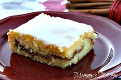 Mommy's Kitchen: Honey Bun Cake {Carson's Favorite Cake}  This looks awesome!  I've gotten some new dessert recipes lately and they've turned out to be favorites for the groups.  May give this a try!