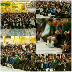 [ Believers in Celebration Ceremony for the Birthday of Prophet Muhammad in Abal Fadhlil Abbas Holy Shrine ]  #17RabiUlAwwal1437
