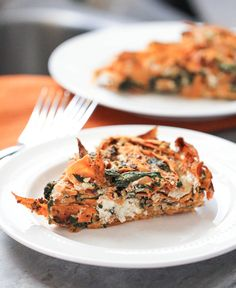 Yam Kale and Goat Cheese Crustless Quiche | Julie's Jazz