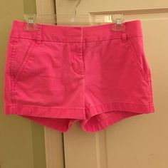 J. Crew hot pink chino shorts worn very few times!! still in very good condition J. Crew Shorts