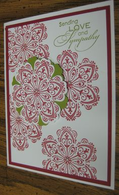 SYMPATHY Card featuring Stampin Up Love & Sympathy Set. $2.75, via Etsy.