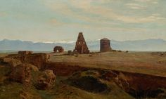 Janus La Cour (1837-1909): A misty day on the Roman Campagna, 1894