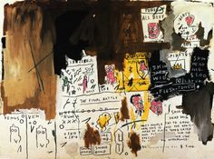 Jean-Michel Basquiat - Skin Head Wig, (1983)