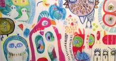 patternprints journal: LIVELY PATTERNS IN CREATIVE AND CRAZY PAINTINGS BY JESSIE BREAKWELL