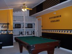 Image detail for -fan-man cave, detached garage turned Steeler's room, another view ...