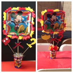 Center pieces for Mickey Mouse theme party I can make them for you. Any theme for $10 each. (623)455-0558