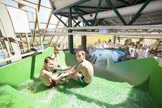 Van de glijbaan in het subtropisch zwembad. Fair Grounds, Park, Fun, Travel, Viajes, Parks, Destinations, Traveling, Trips