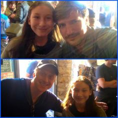 """Whaaaaat!? We met @natefillion and #alantudyk during Free Comic Book Day today. Ava saluted Nathan Fillion and said, """"Thanks Captain"""" and he gave her the warmest smile, saluted back and said """"As you were."""" So awesome. #firefly #captainhammer #conman #castle  5/7/16"""
